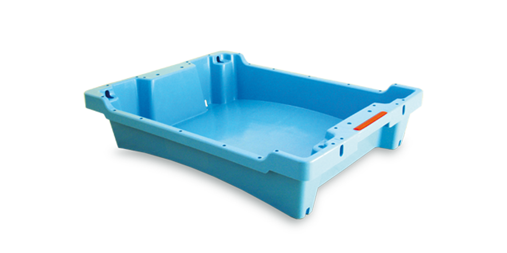 Solid Container with drainage and spillway without handle opening