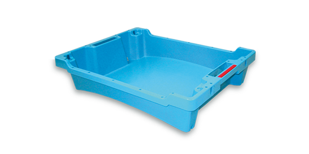 Solid Container without drainage with spillway and handle opening