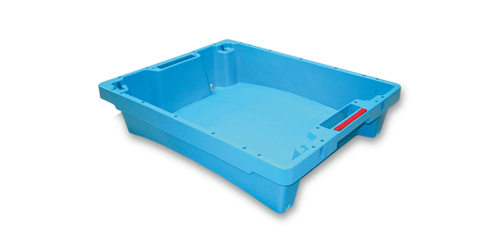 Solid Container with drainage and spillway with handle opening