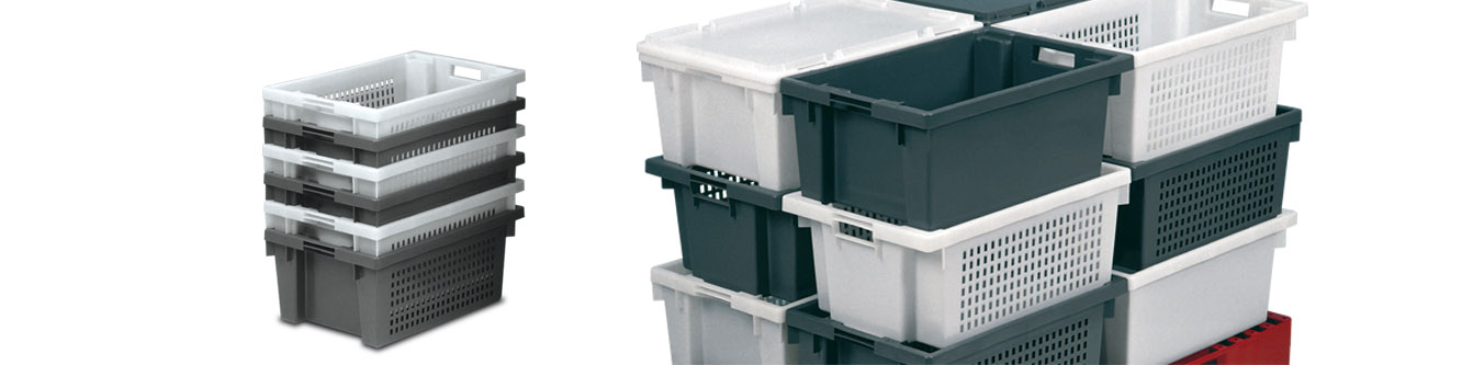 Stackable and Nestable Perforated Containers