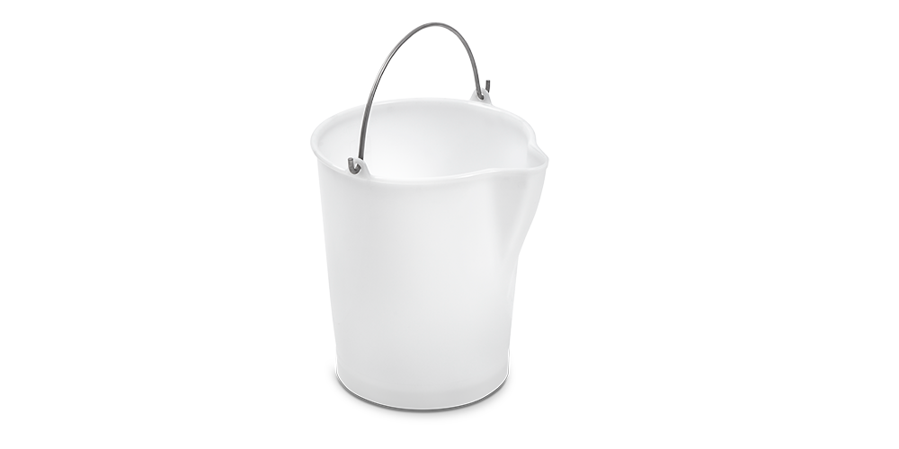 Cylindrical Container with Dump and Stainless Steel Handle Grip