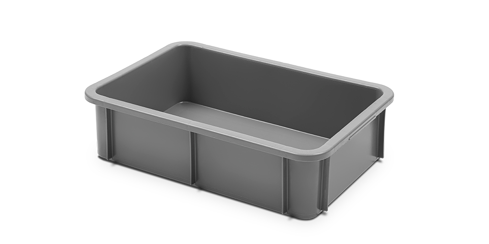 Stackable Container with Curved Lips