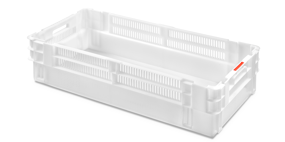 Euro Stack Nest Container with Half Perforated Walls and Solid Base
