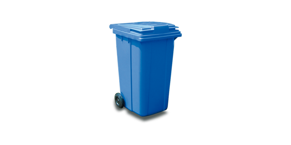 2 Wheeled Bin with Hinged Lid 240 liter